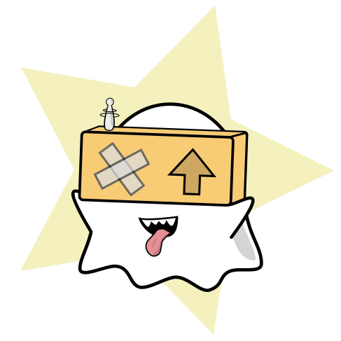 Ghost with VR Glasses