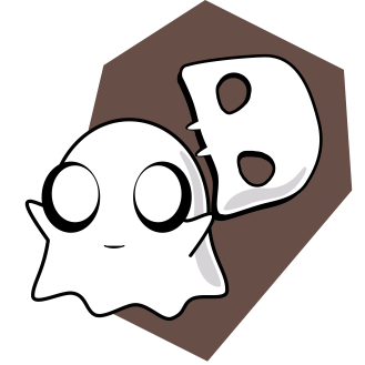 Ghost with Brown Coffin